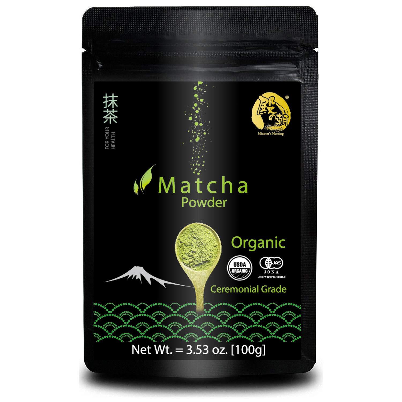 Minister's Morning Matcha green tea powder organic ceremonial 100