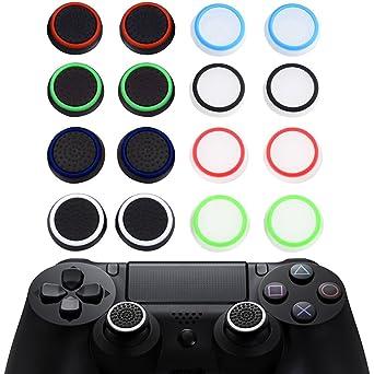 16pcs Thumb Grip Thumbstick Noctilucent Sets für PS2, PS3, PS4, Xbox ...
