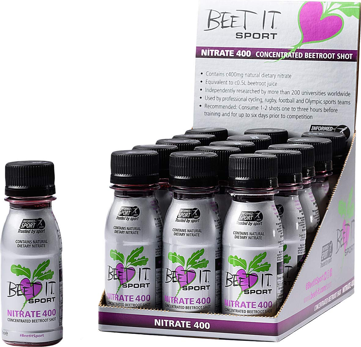 Beet It Sport Pro-Elite Shot, 2.4 Fluid Ounce, 15 Count by BEET IT