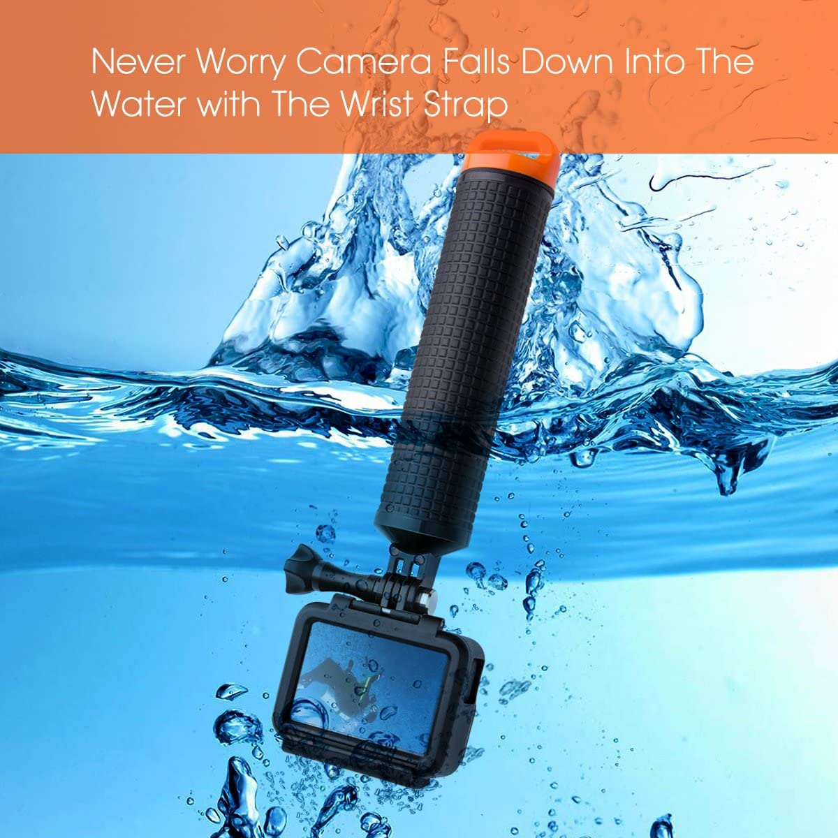 Luxebell Waterproof Floating Hand Grip, Pole Mount for Gopro Hero 8 7 6 5 Max Session 4 3+, Handle Mount Accessories for AKASO EK7000 V50 Pro Brave 4 Dragon Crosstour Campark DJI OSMO Action Camera : Camera & Photo