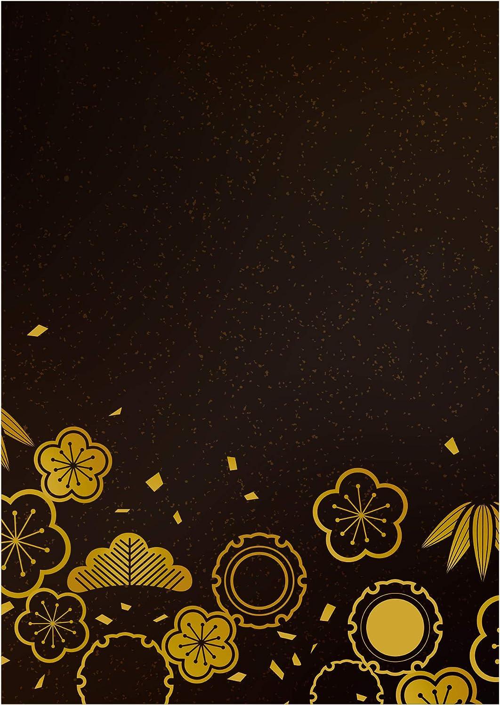 Amazon ポスター A3 和柄 インテリア 花 北欧 赤色 黒色 ジャパン 和紙調 模様 シンプル モダン フレーム 無し アートフレーム ポスター オンライン通販