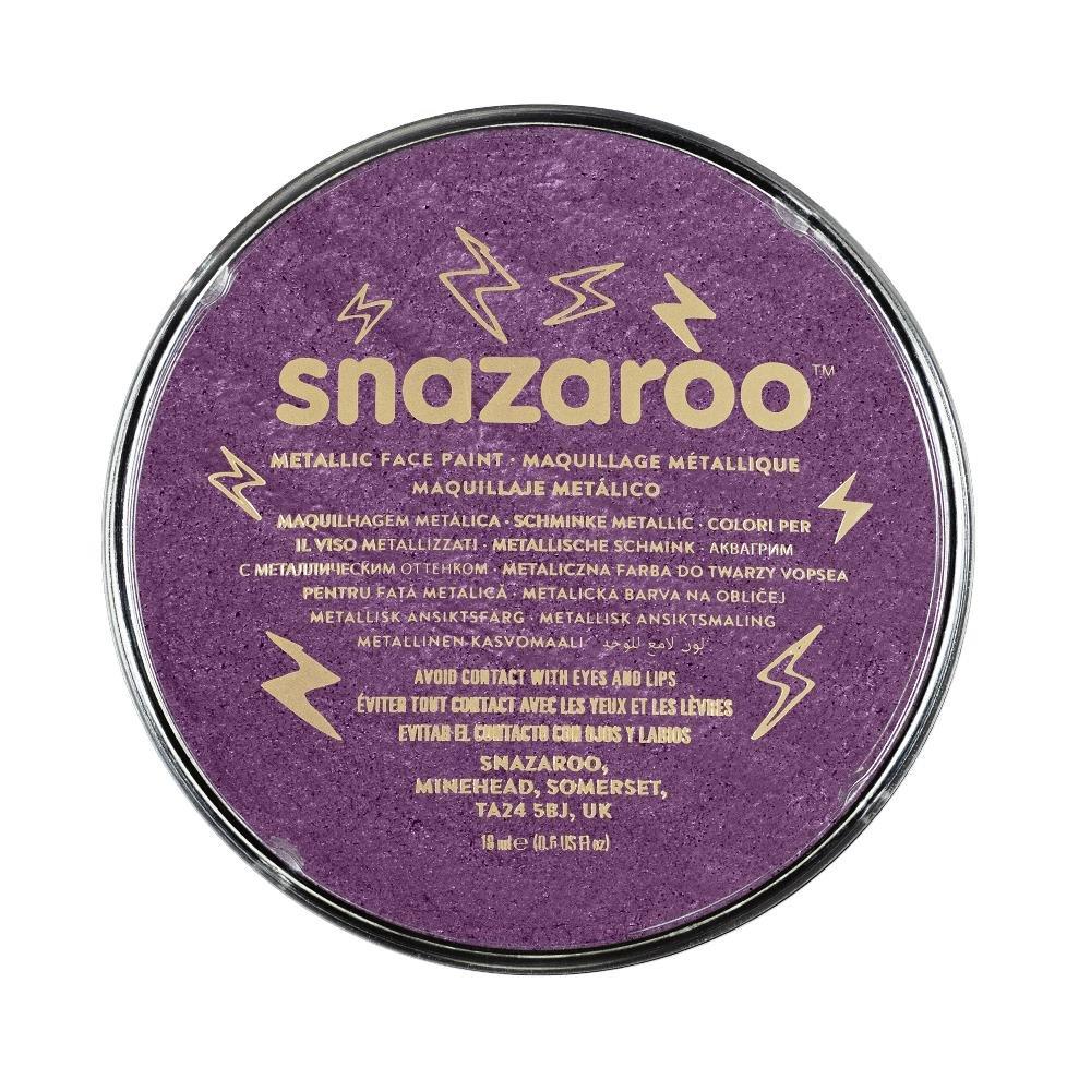 Snazaroo - Pintura facial y corporal, 18 ml, color púrpura metálico: Amazon.es: Juguetes y juegos