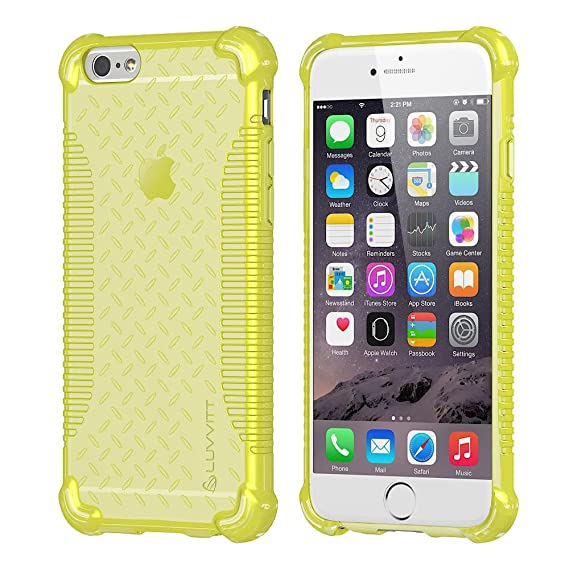 the best attitude 031e0 c369e Amazon.com: iPhone 6s Case, LUVVITT [Clear Grip] Soft Slim Flexible ...