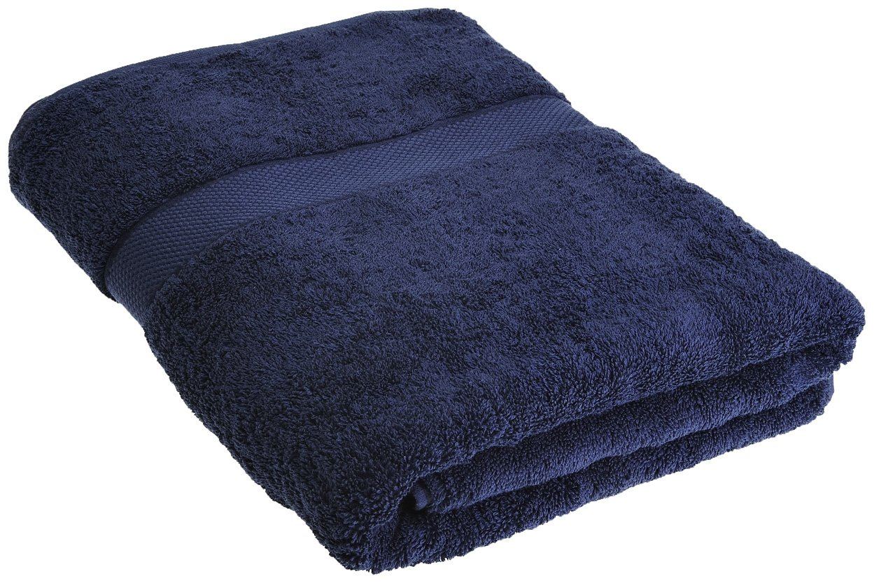 Sheridan, Sheet Towel, Egyptian Luxury, British Navy, 91x167 Sheridan Uk Ltd S1HBTS731 Linens Hand