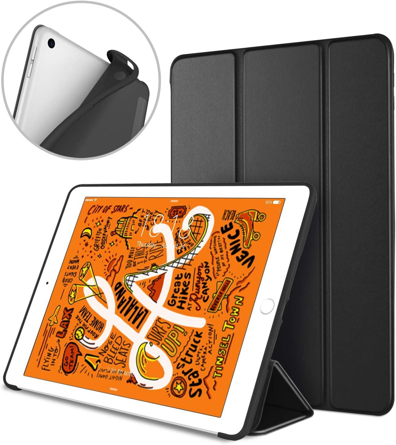 DTTO iPad Mini 5th Generation 2019 Case, [Gentle Series] Smart Cover Trifold Stand Soft Back Cover for iPad Mini 5 2019/iPad Mini 4 2015 [Auto Sleep/Wake], Black