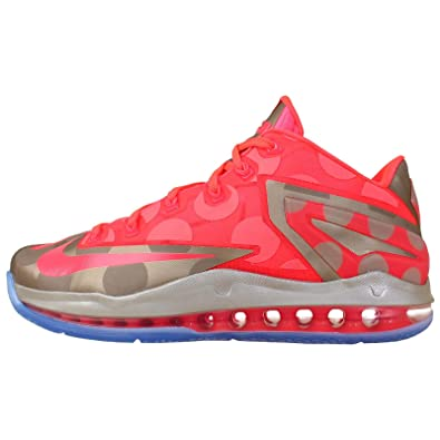 Nike Men's Max Lebron XI Low Collection , METALLIC ZINC/HYPER PUNCH-ICE,
