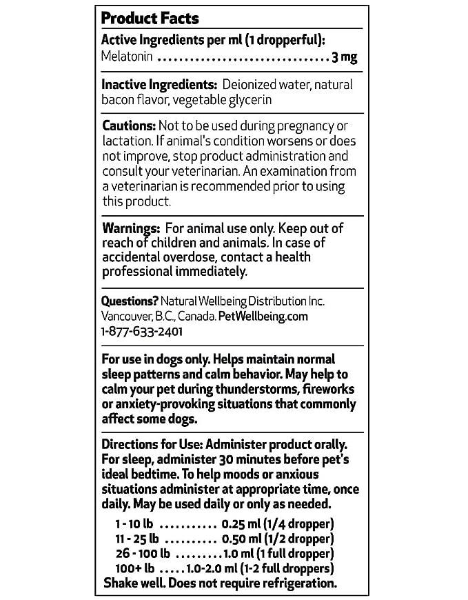 Pet Wellbeing 2 Oz Mascotas Melatonina: Amazon.es: Productos para mascotas