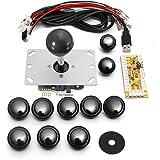 アーケードゲーム ジョイスティック MECO 基板タイプ ジョイスティックレバー コントロール ファイトスティック エンコーダ アーケードゲーム 部品 セット ブラック 5V