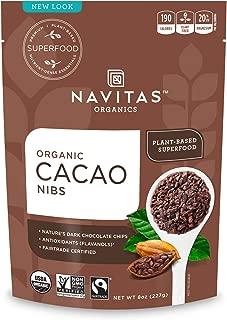 product image for Navitas Organics Raw Cacao Nibs, 8 oz. Bag, 8 Servings — Organic, Non-GMO, Fair Trade, Gluten-Free