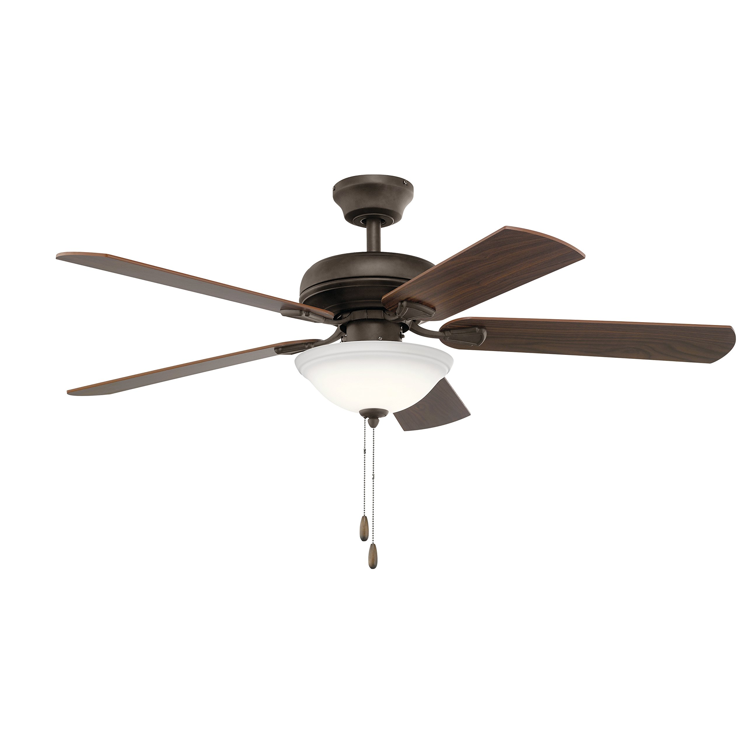 Kichler 330330SNB 52 Inch Ezra Ceiling Fan in Satin Natural Bronze with LED Light