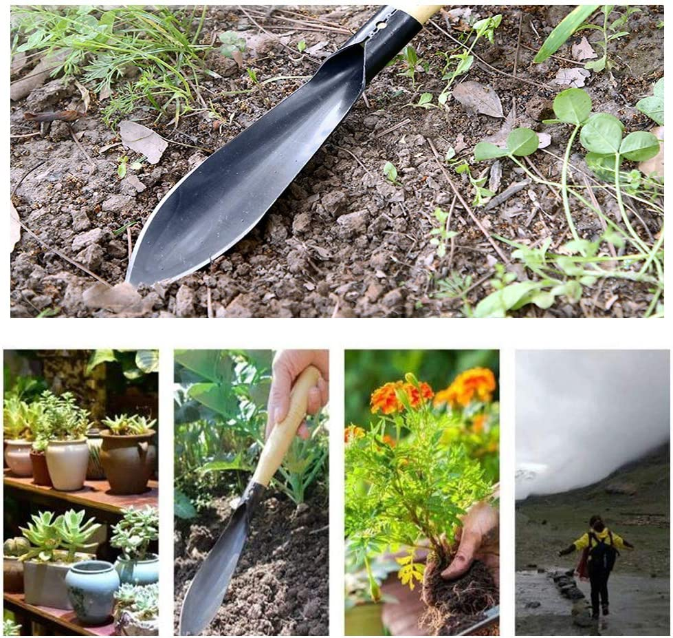 CUNYA Garden Trowel /& Hand Wide Shovel Pointed with Soft Rubberized Non-Slip Ergonomic Handle for Planting Weeding Gardening Gift Transplanting Moving and Smoothing Soil