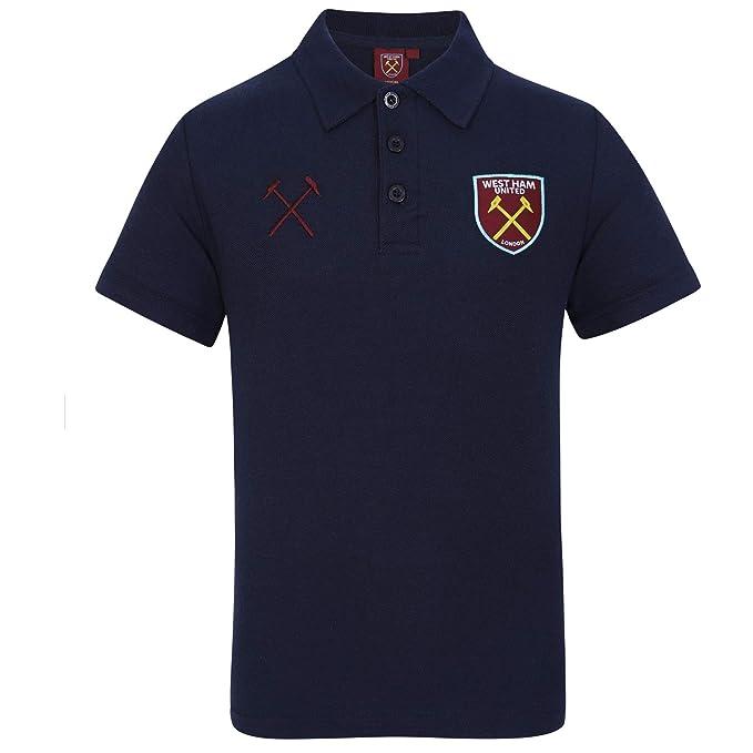 West Ham United FC Polo Oficial para Hombre - con el Escudo del ...