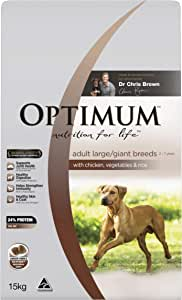 OPTIMUM Adult Large Breed Chicken Rice and Vegetables Dry Dog Food, 15kg Bag