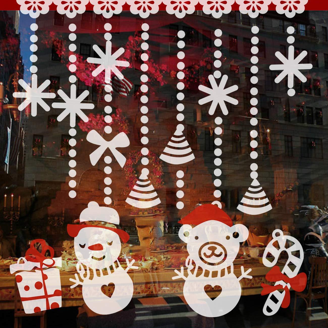 Wandbild statisch für glatte Flächen Fensterbild Weihnachten wiederverwendbar