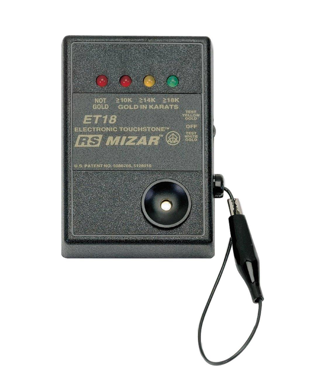 ET-18 Mizar Gold Tester Battery Operated Electronic Gold Karat Purity Value 10K 14K 18K Tester PMC Supplies TES-174.00