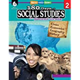 180 Days of Social Studies: Grade 2 - Daily Social Studies Workbook for Classroom and Home, Cool and Fun Civics Practice…