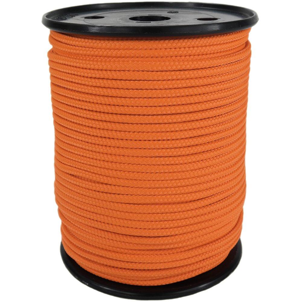 PP Seil Polypropylenseil SH 10mm 100m Farbe Orange (0131) Geflochten