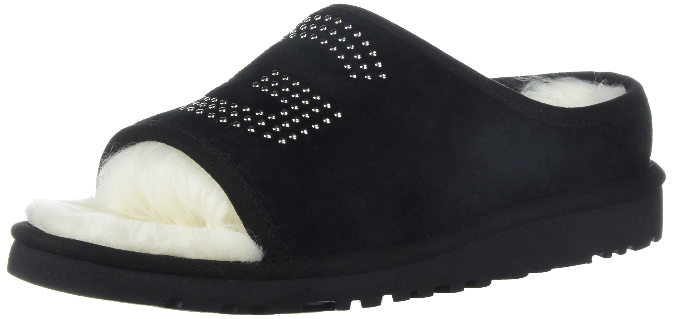 UGG Women's Slide Stud Slipper, Black, 8 M US