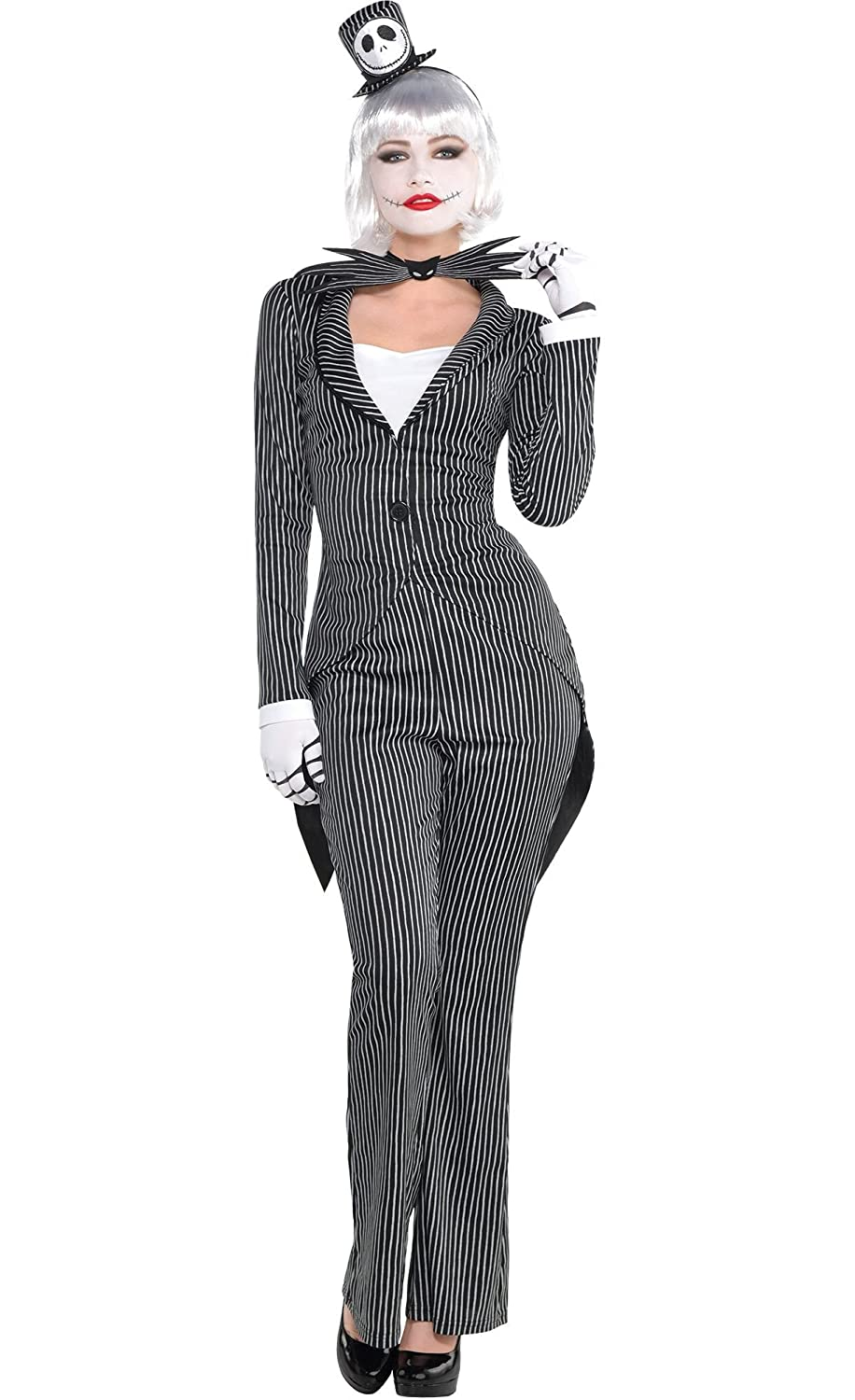 Amazon.com: HalloCostume Adult Lady Jack Skellington Costume - The ...