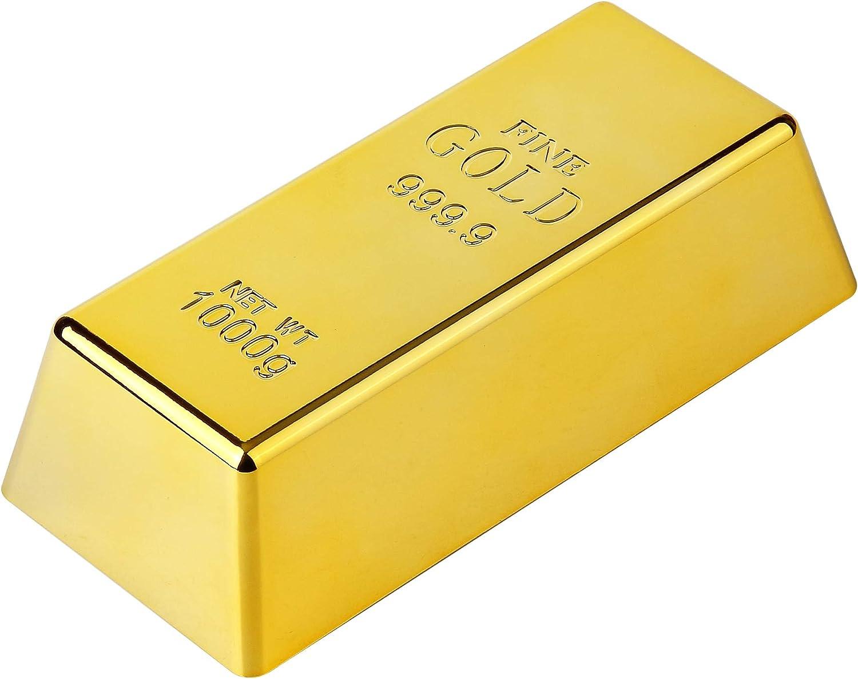 Lingotes de lingote de oro tope para puerta/pisapapeles