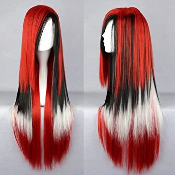 Amazon.com : 70Cm Long Women Hair Ombre Color High Temperature Fiber Wigs Pink Blue Synthetic Hair Cosplay Wig Peruca Pelucas #35 28inches : Beauty
