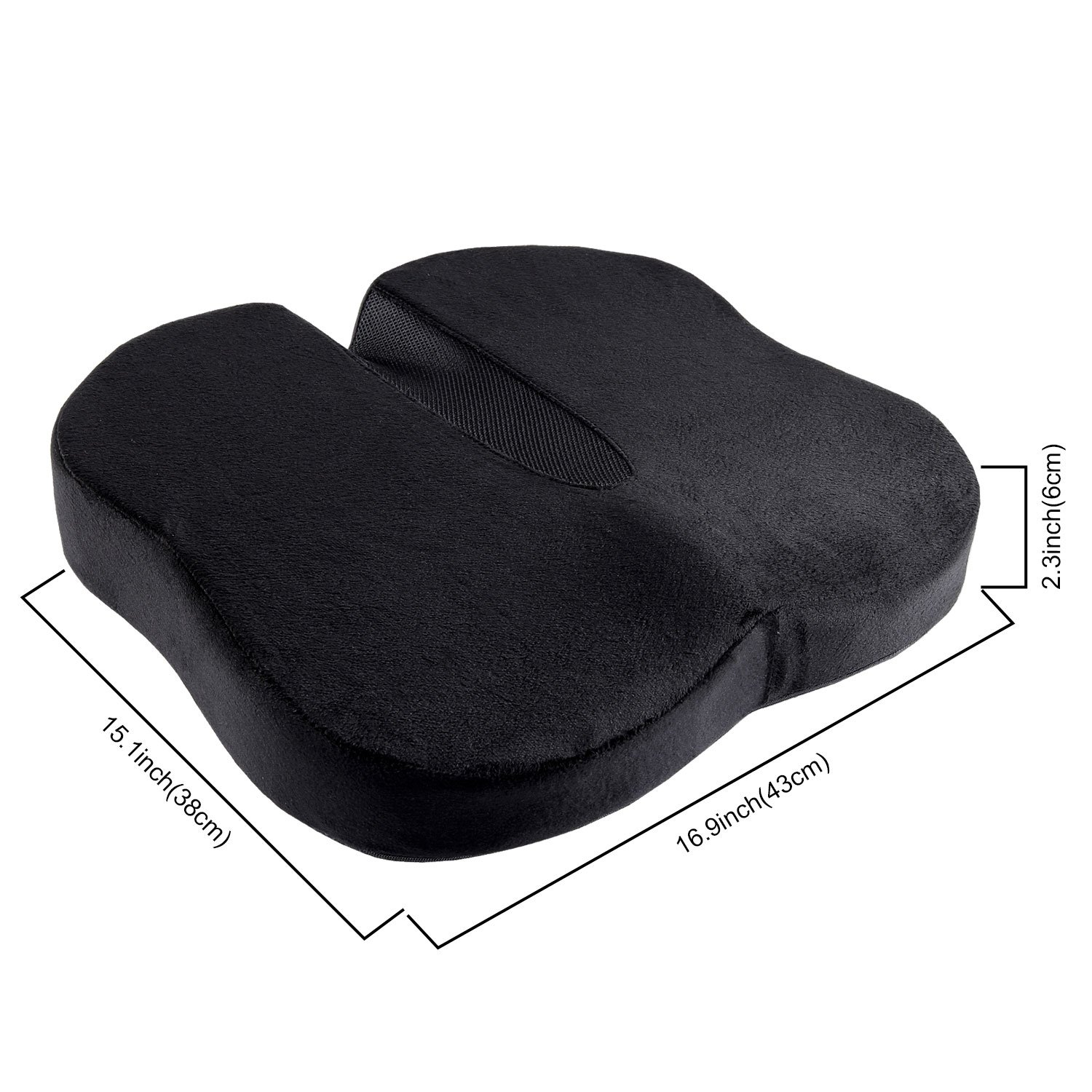 Antaprcis Seat Cushion Pure Memory Foam Confortable Luxury Seat Cushion for Relieve Back, Sciatica and Tailbone Pain - Office Chair and Car Seats Cushion by Antaprcis (Image #2)