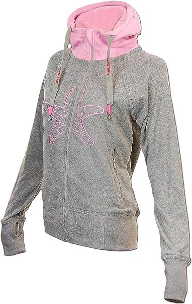 SEESTERN Damen Kapuzen Sweat Shirt Jacke Pullover Zip Hoody