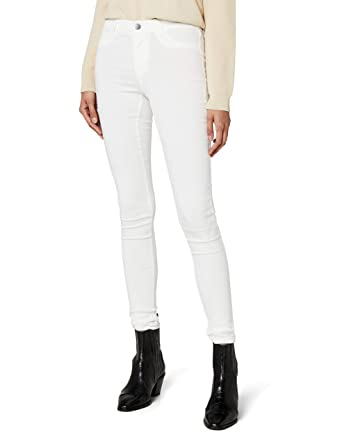 PIECES Damen Jeanshose PCSKIN WEAR Jeggings BWHI NOOS, Weiß (Bright White), 790159633b