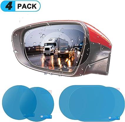A4S 2 Pack Car Rearview Mirror Film 100x145 mm HD Anti-Fog Waterproof Anti-Glare,Anti-Scratch,Universal Car Rear View Mirror Window SPGuard Compatible Clear Nano Film Clear