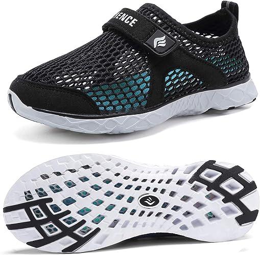 CIOR Toddler Kids Water Shoes Breathable Mesh Running Sneakers Sandals for Boys Girls Running Pool Beach,U118STWX001,Purple,27