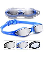 b49a986773 AdePoy Swimming Goggles Anti Fog Crystal Clear Vision with UV Protection No  Leaking Easy to Adjust