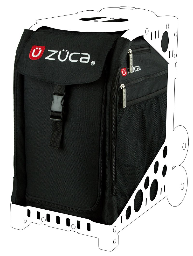 Zuca SIBO032 Sport Insert Bag Obsidian Black Logo Embroidery in Red White 89055900032 by ZUCA (Image #1)