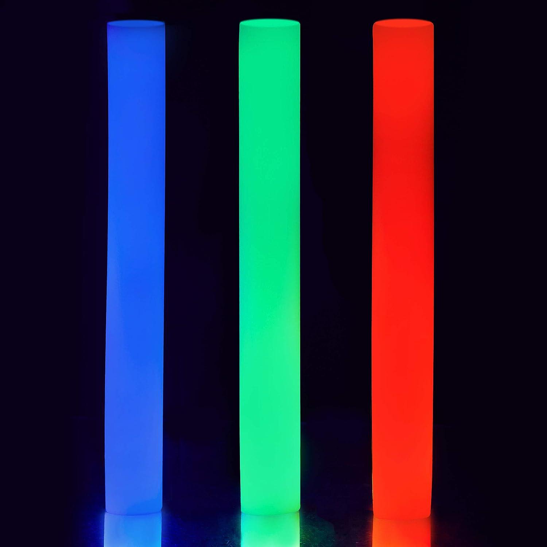 Relaxdays B/âton mousse lumineux 3 LED color/é soir/ées anniversaires rouge bleu vert