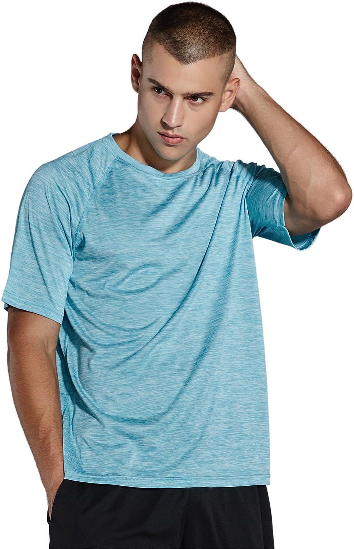 Quick Dry Wicking Running Tops Training Tee Short Sleeve Sportswear Komprexx Sport T-Shirts for Men