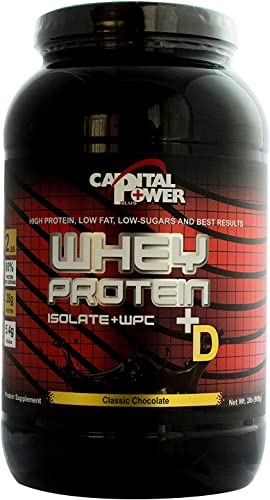 Capital Power Plus Whey Chocolate Isolate 80 Protein Vitamin D