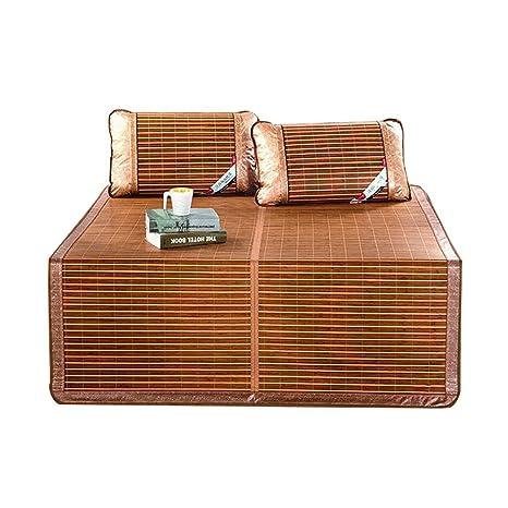 LIXIONG Verano Estera para Dormir Bambú Almohadilla Cama Colchón Plegable Respirable Resistente Al Desgaste Suave Familia