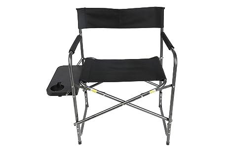 Tremendous Amazon Com Ozark Trail Directors Chair With Side Table Ibusinesslaw Wood Chair Design Ideas Ibusinesslaworg
