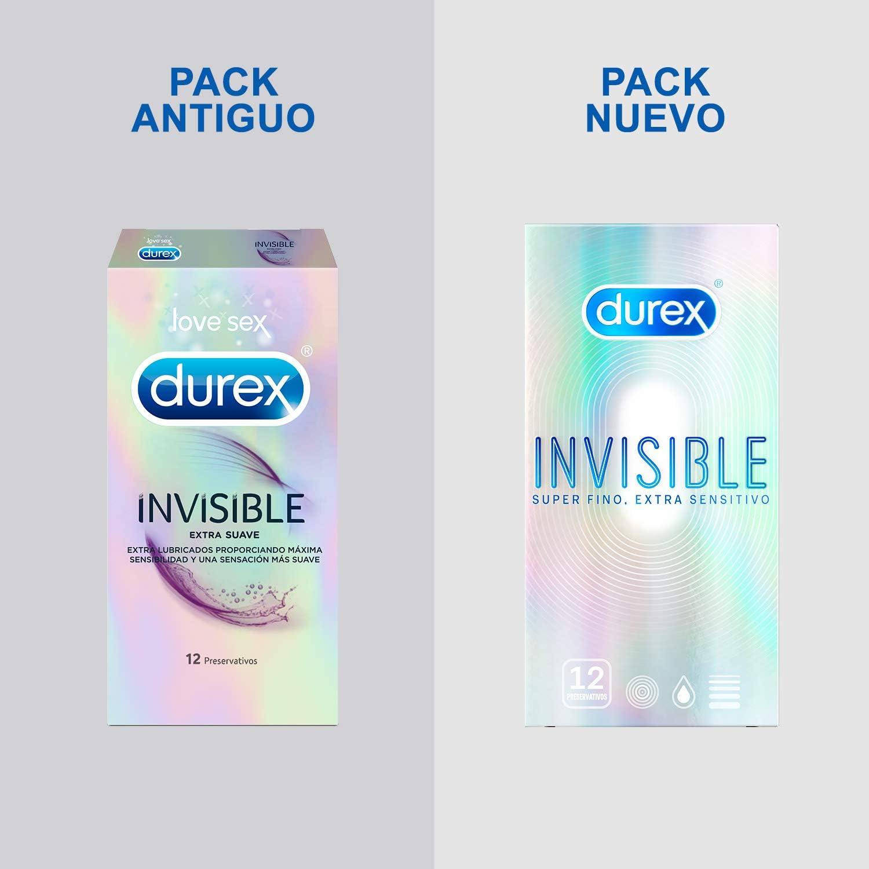 Durex Preservativos Invisible Extra Fino Extra Sensitivo - 12 condones: Amazon.es: Salud y cuidado personal