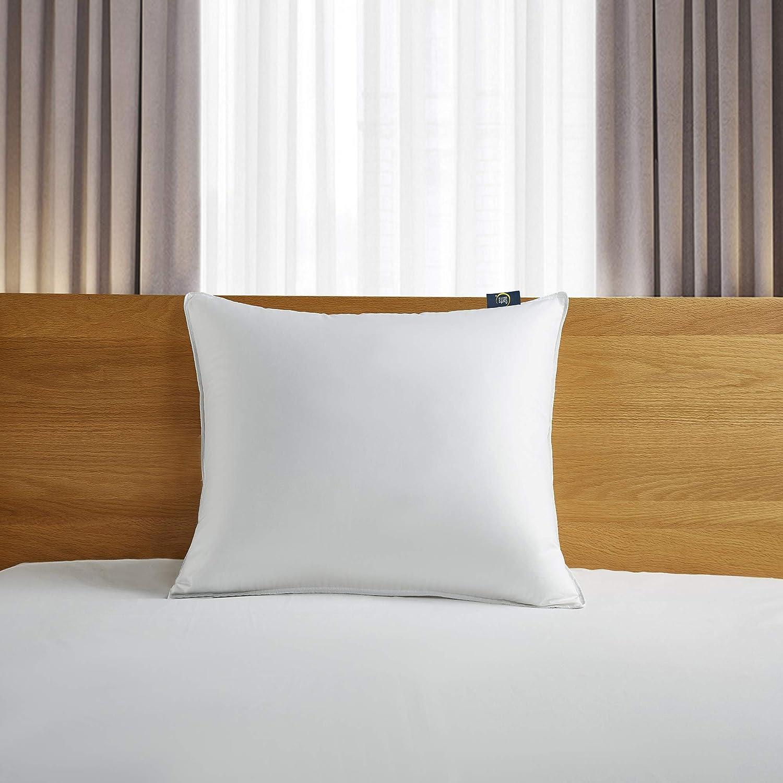 Serta 300 Thread Count White Down Fiber Bed Back Sleeper Pillow, Jumbo