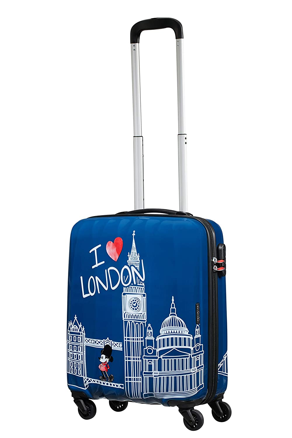 4a32b50724a American Tourister Disney Legends - Spinner Small Alfatwist Hand Luggage,  55 cm, 36 Litres, Blue (Mickey London): Amazon.co.uk: Luggage