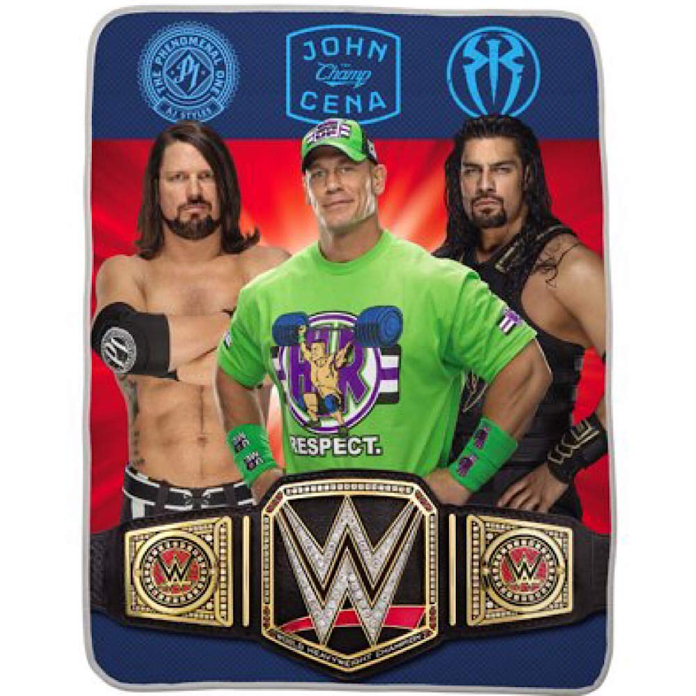WWE Kids Silky Touch Throw Blanket