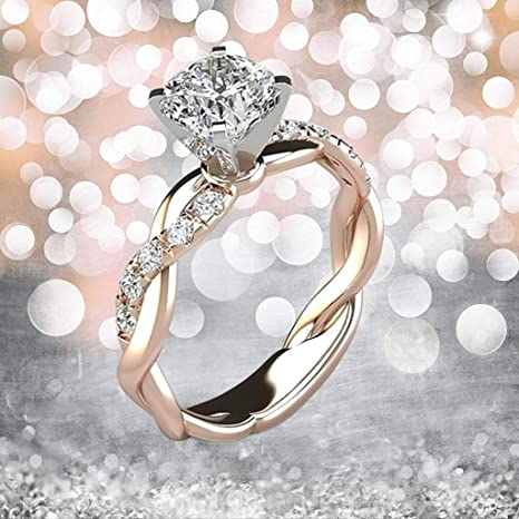 Amazon Com Exquisite Diamond Engagement Ring For Women Shining