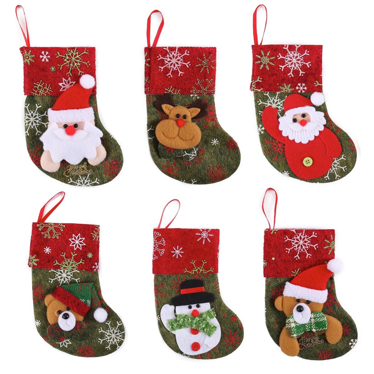 Amazon.com: JOYIN Set of 12 Mini Christmas 3D Stockings Gift & Treat ...