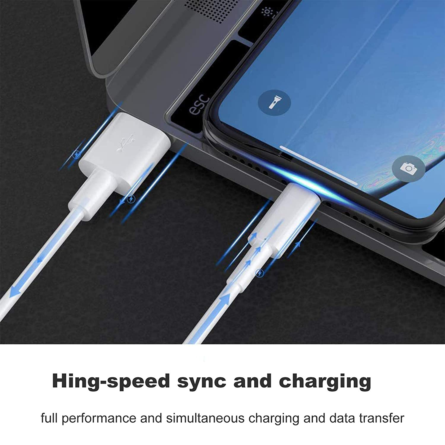 iPhone Charger cables 10FT*5PACK High Speed /&Data Syncs Cord Compatible with iPhone 12//11 Pro Max//Xs//X//XR//8//7//6s//6//SE//Pad//Pod More MBYY MFi Certified to USB Cable