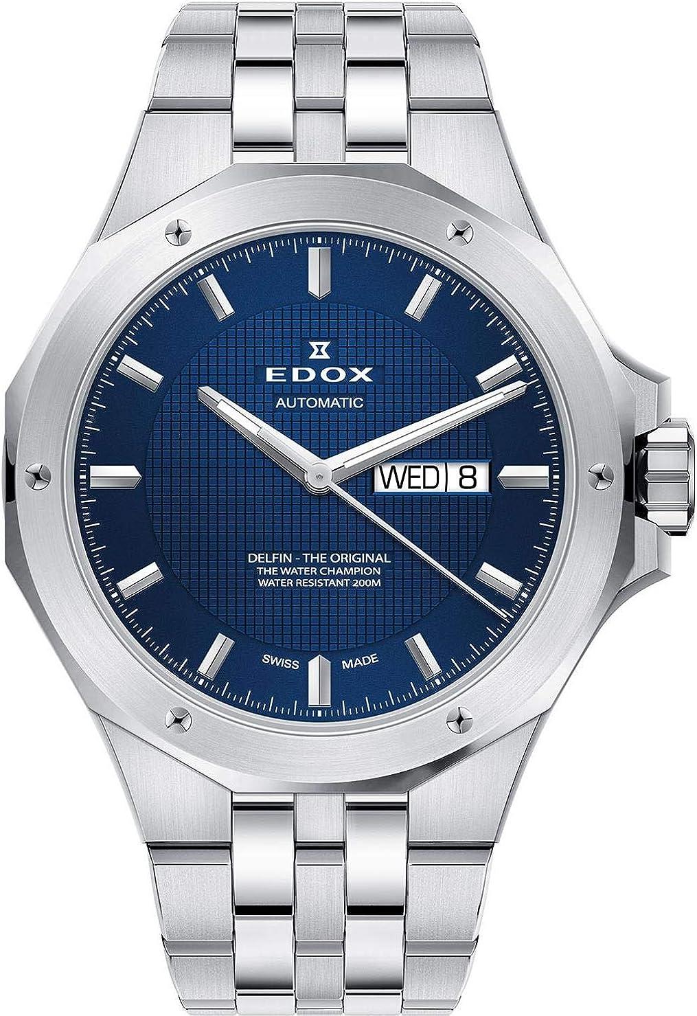 Edox Delfin The Original Reloj de Hombre automático 43mm de Metal 88005 3M BUIN