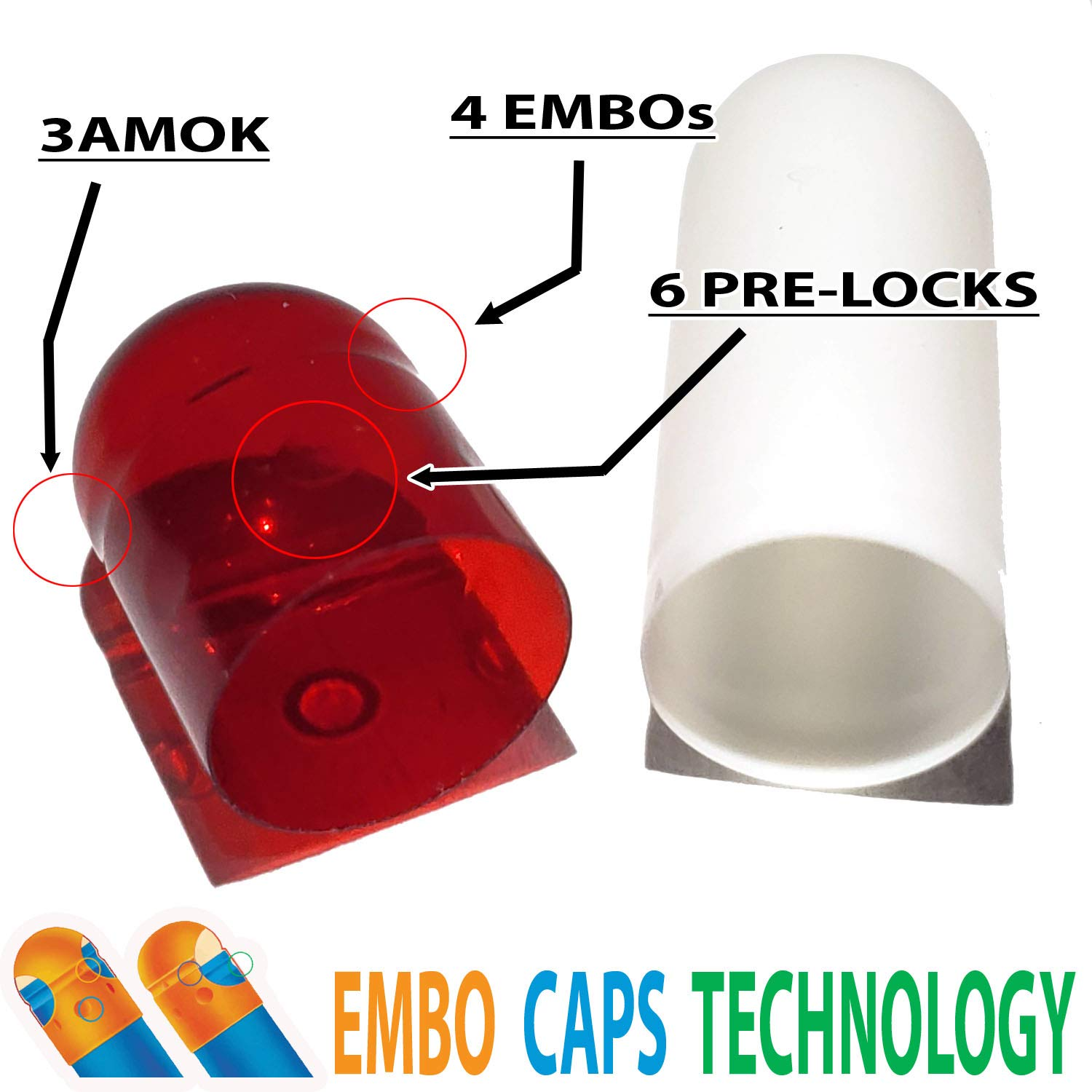 Capsules World - Empty Gelatin Capsules 0 Size - 1000 Count, Red White Color, Premium EMBO Caps Technology, Compatible with Capsule Filling Machine & Capsule Pill Gel Filler