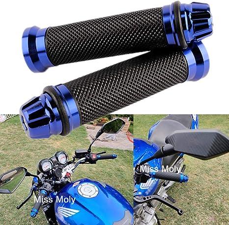 Bleu JenNiFer 7//8Inch 22Mm Anti-D/érapant Poign/ées De Guidon en Caoutchouc Moto Dirt Pit Bike pour Honda//Yamaha//Kawasaki