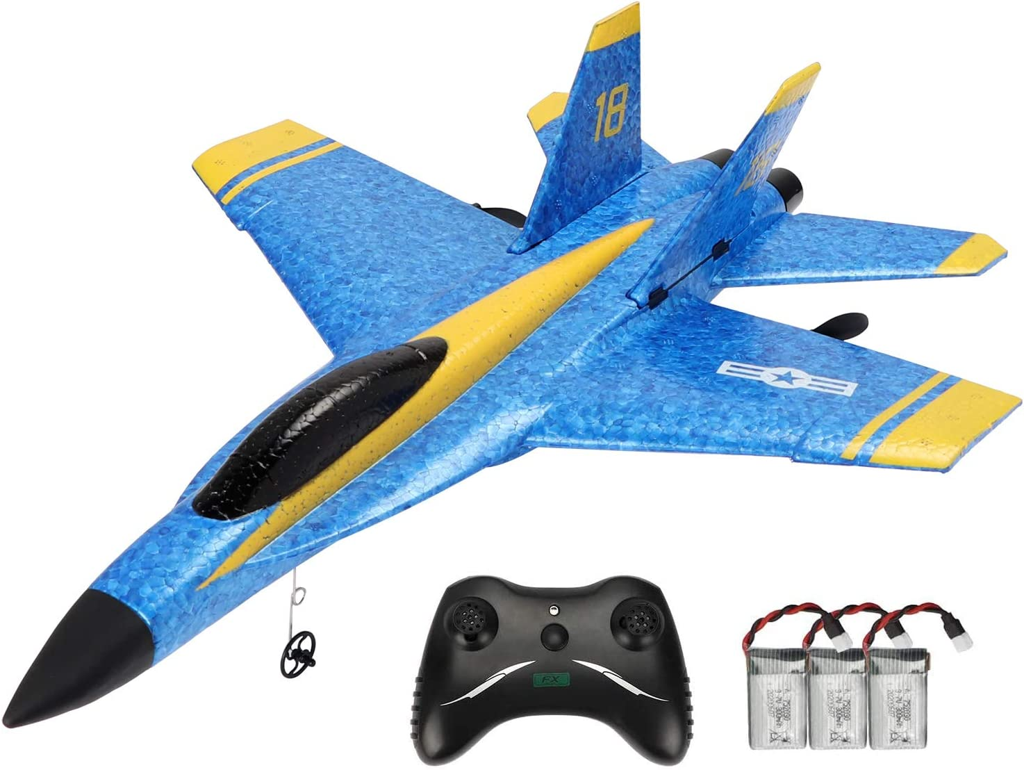 Techway Rc Plane 2 Channel Remote Control Airplane Ready to Fly Rc Planes for Kids Beginners and Adults,RTF RC Gliding Aircraft Model Easy /& Ready to Fly with 3 Batteries