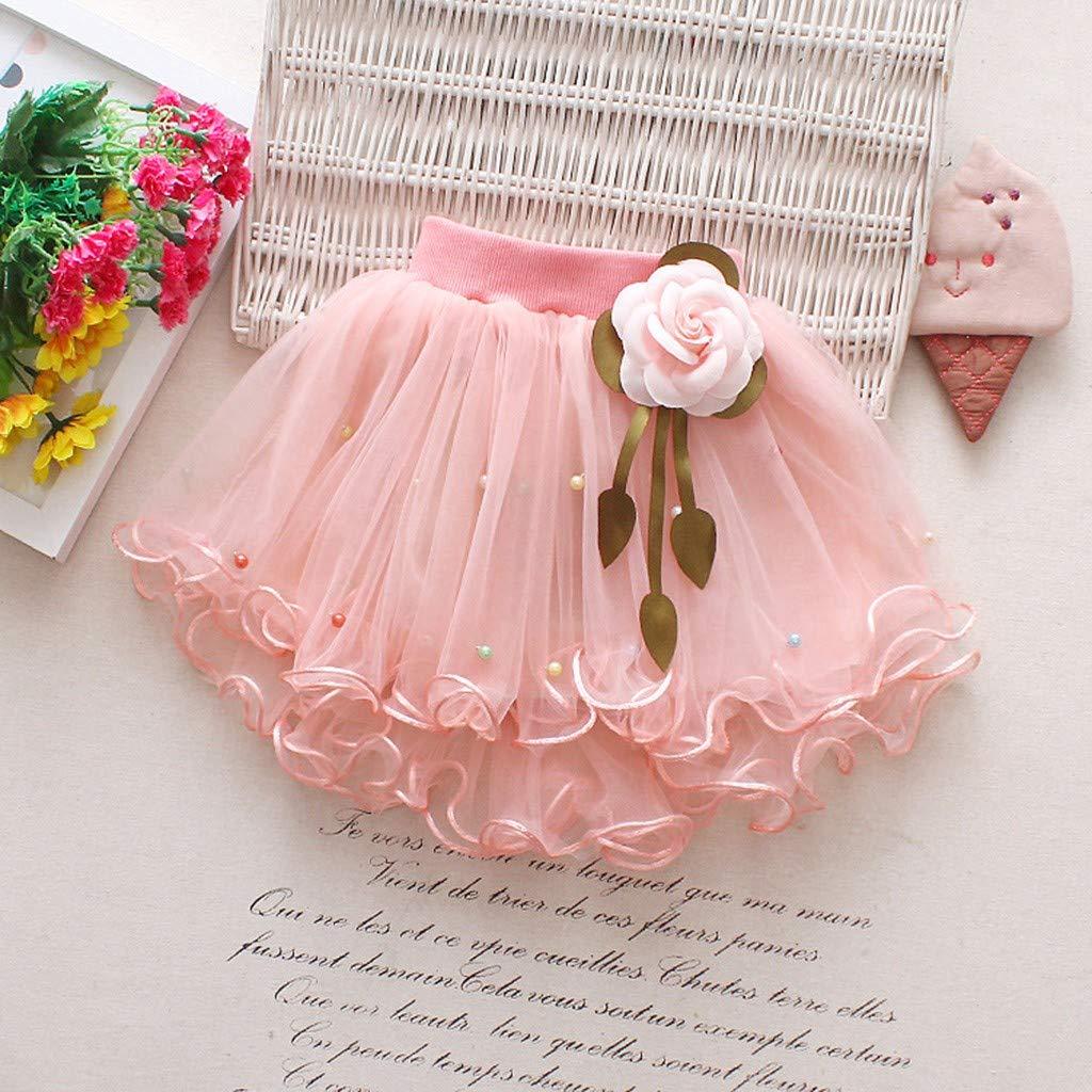 SiQing Toddler Kids Baby Girls Show Dance Birthday Party Flower Princess Dress Gauze Tutu Skirt