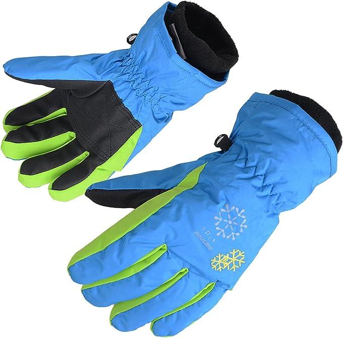 Snow Snowboard Children Ski Gloves Long-sleeved Mitten Outdoor Riding